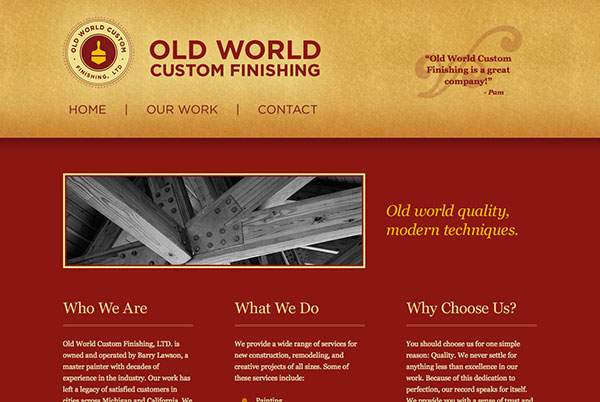 Old World Custom Finishing